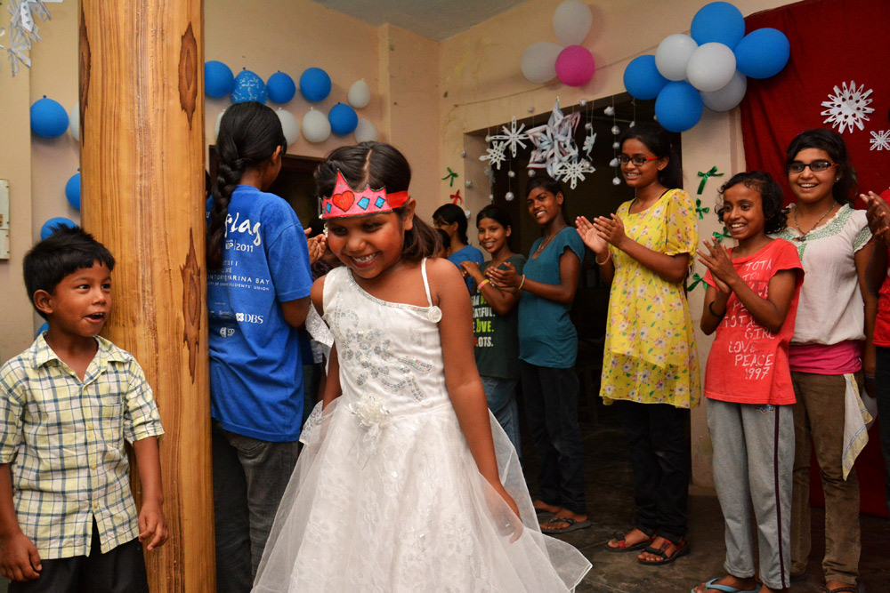 Sheetal getting to be a princess at the Frozen Ball.